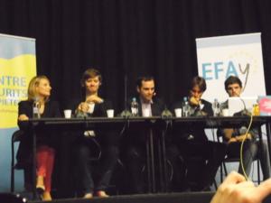 de gauche à droite : Antonia Luciani, Jon Egeris Karstoft, Roccu Garoby, Pèire Costa, Emyr Gruffydd