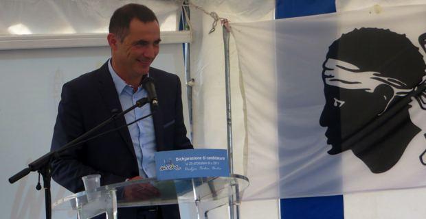 Gilles Simeoni, conseiller municipal Inseme per Bastia, conseiller territorial du groupe Femu a Corsica.