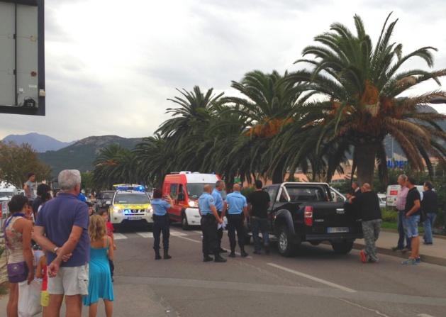 Matéo (5 ans) renversé par un 4x4 à Calvi. Grièvement blessé il a été évacué par Hélicoptère