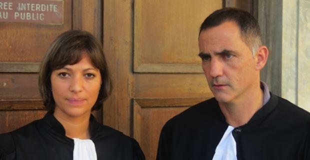 Me Cynthia Costa-Sigrist et Me Gilles Simeoni, avocats de la défense.