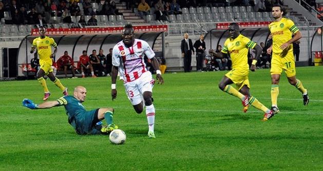 Abou Camara a manqué de chance face à Nantes, mais ne doit pas baisser les bras. L'ACA non plus (Ritrattu : Jean-Noël Casanova Alta Frequenza)