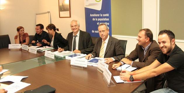Jean-Jacques Coiplet (au centre) a présidé les travaux de cette première journée. (Archives CNI)