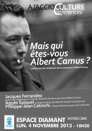 Mais qui êtes-vous Albert Camus ? Conférence à l'Espace Diamant