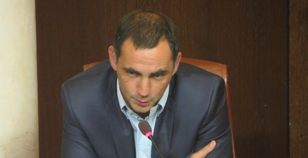 Gilles Simeoni, conseiller municipal, leader d'Inseme per Bastia.