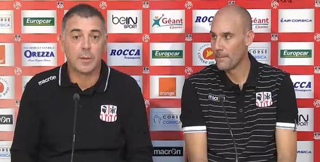 Christian Bracconi assisté de son adjoint, Yann Daniélou, les deux nouveau visages du banc Acéiste (AlorsuTV)