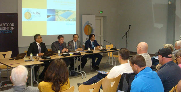 Le projet Alba Nova présenté par Marc Benmarraze du groupe Solar Euromed (Photo Stéphane Gamant)