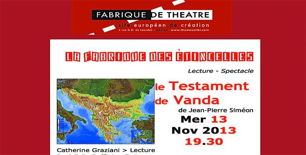 """Bastia : """"Le Testament de Vanda"""" à la Fabrique de Théâtre"""