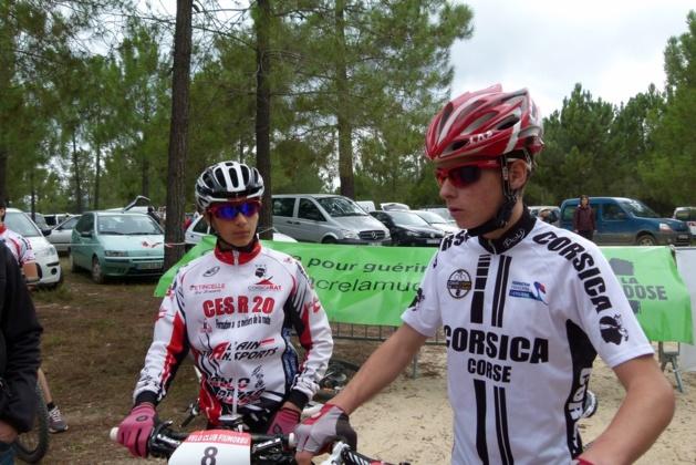 Axel Narbonne à droite sur l'image, champion de Corse 2013, a survolé l'épreuve