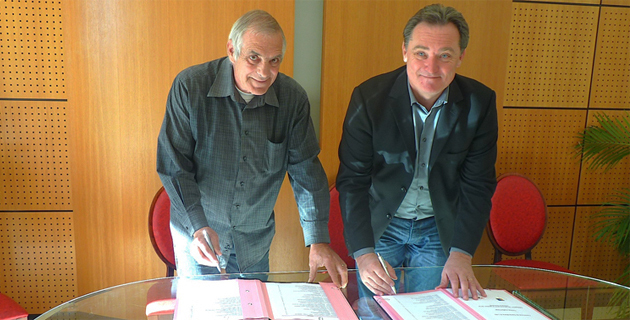Sylvain Delucia et Guy Armanet