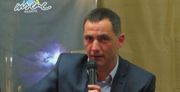 Gilles Simeoni, leader d'Inseme per Bastia et candidat à l'élection municipale de mars 2014.