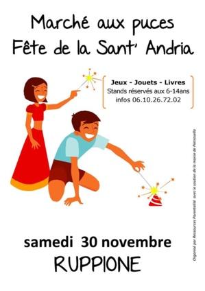 Puces des enfants et Sant'Andria au Ruppione