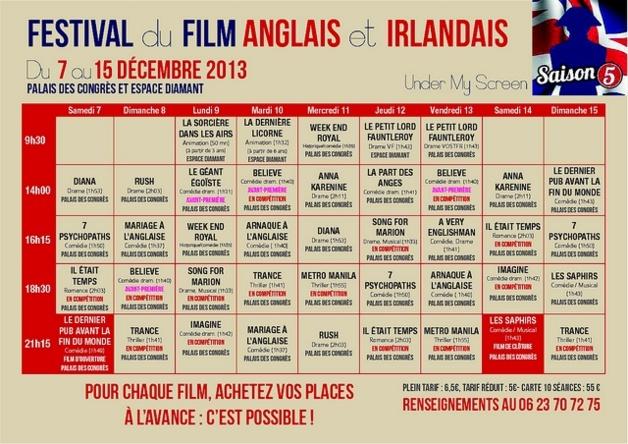 """Le programme complet et les séances de cette cinquième édition du festival """"Under my Screen"""". (Doc : DR)"""
