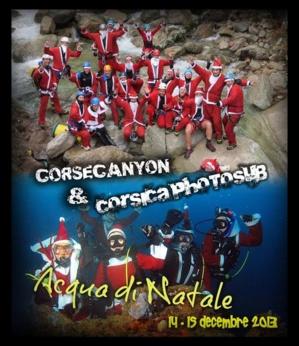 Acqua di Natale avec Corse Canyon et  Corsicaphotosub