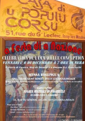 L'Immaculée Conception et a Festa di a Nazione célébrées à Issy-Les-Moulineaux