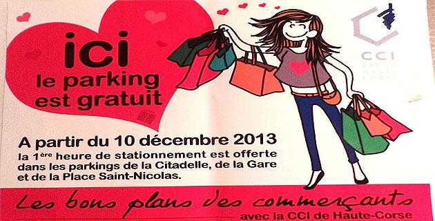 La CCIT de Haute-Corse offre 15 000 heures de stationnement à Bastia
