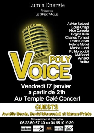 """Poly  Voice"", le spectacle : Réservez vos places !"