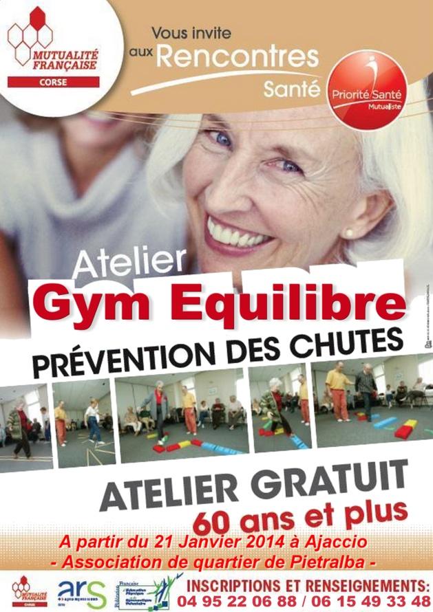 Ajaccio : Atelier gym équilibre avec la Mutualité française