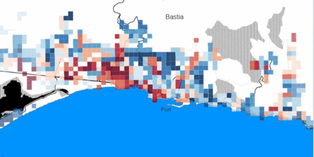 Inégalités de revenus à Bastia (capture d'écran)