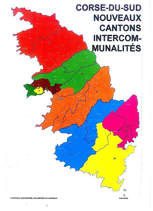 Découpage cantonal : 11 cantons pour 143 100 habitants en Corse-du-Sud
