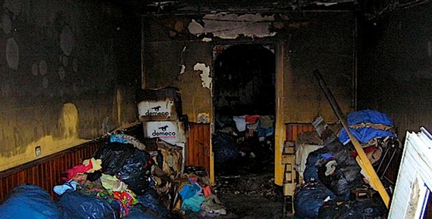 Le 23 Août dernier déjà les locaux avaient été dévastés par les flammes. (Photo Y.-C. Garcia)