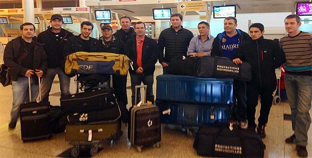 Les agents au départ de l'aéroport d'Ajaccio pour prêter main forte à leurs collègues de La Réunion