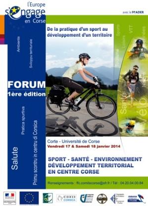 """Corte : Premier forum """"Sport Santé Environnement Développement Territorial en Centre Corse"""""""