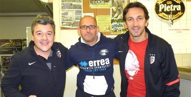 Sam Lacombe (au centre) entre Michel Marfaing et Johan Faure