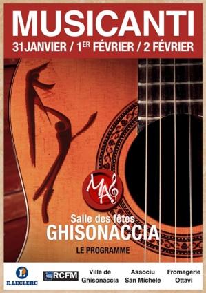 La 4ème édition de Musicanti les 31 janvier, 1er et 2 février