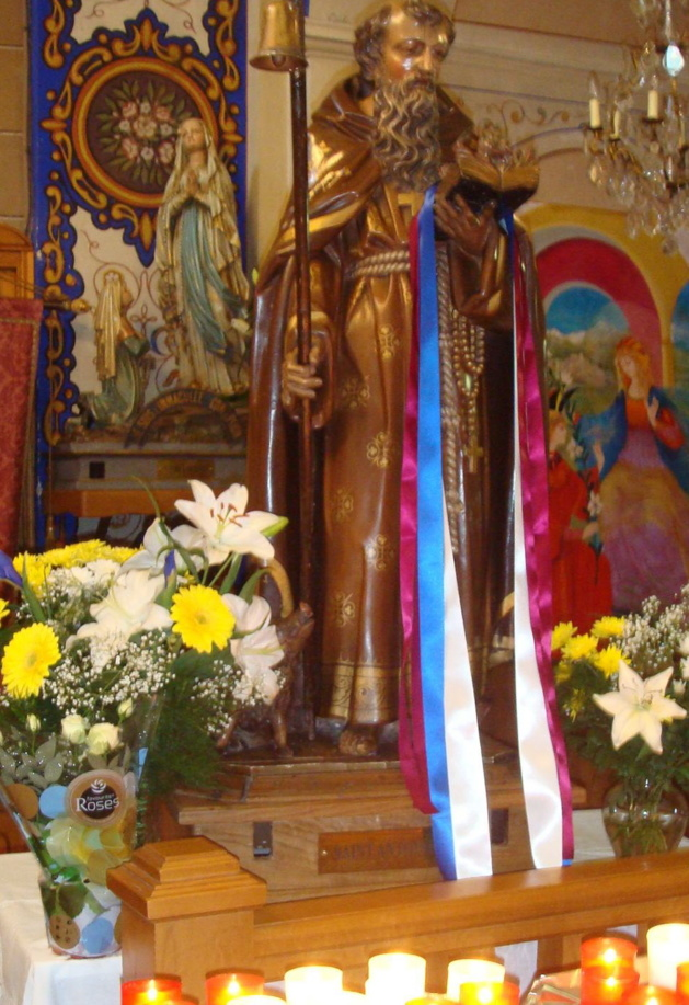 Sant'Antoni honoré en la paroisse de San Gavinu (Photo SG).
