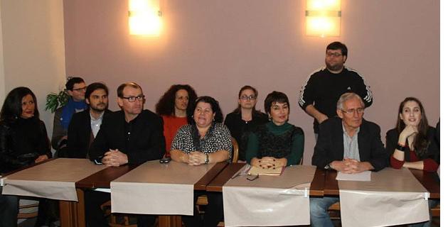 """Anne-Marie Luciani a officialisé sa candidature aux élections municipales pour Ajaccio. Elle a également présenté son équipe """"d'Ajaccio pour vous"""" lors d'une conférence de presse mercredi. (Photo : M. Santi)"""
