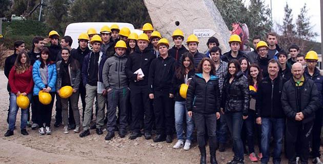 Les étudiants de l'IUT de Corte visitent la Sablière de Calenzana - Balagne