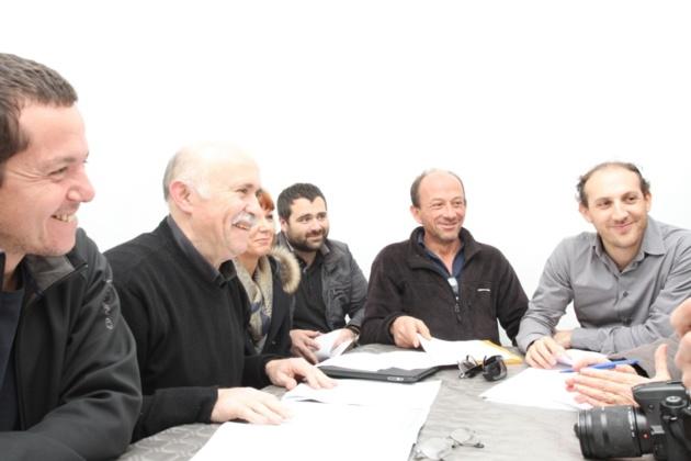 Une conférence de presse où la bonne humeur était visible. (Photo Stéphane Gamant).