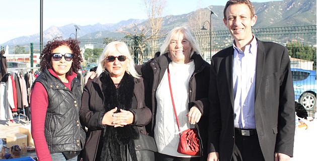 Alexandre Sarrola, Chantal Contursi et deux exposantes