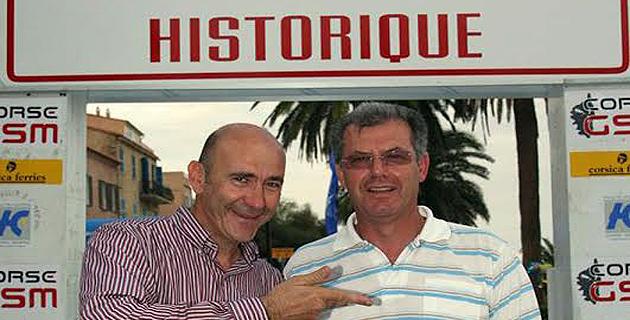 Yves Loubet et José Andreani (à droite) organisateurs des rallyes historiques
