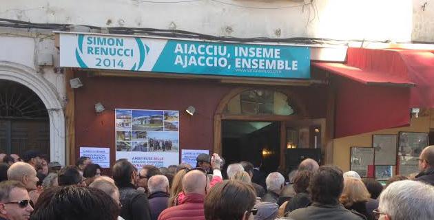Ajaccio : La permanence de campagne de Simon Renucci inaugurée