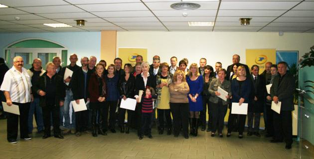 Remise des médailles d'honneur à 35 postiers de Corse