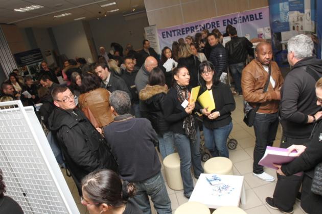 Forte fréquentation pour l'édition 2014 des rencontres de l'emploi. (Photo SG).