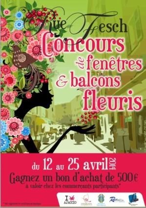 Concours fenêtres et balcons fleuris rue Fesch à Ajaccio