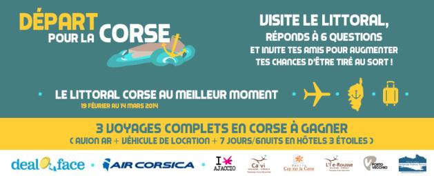 """""""Départ pour la Corse"""" : Un quizz, un voyage et un séjour d'une semaine à gagner"""