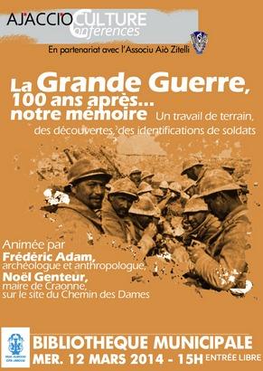 Ajaccio : Rencontre et concert autour de la Grande Guerre