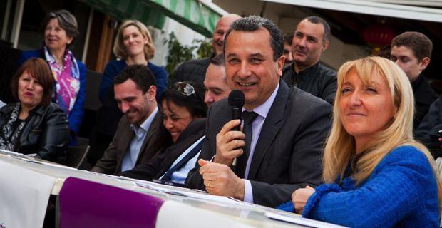 """François Tatti et Emmanuelle de Gentili, têtes de liste de la gauche dissidente : """"Bastia par passion""""."""