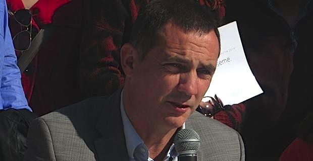 Gilles Simeoni, candidat d'Inseme per Bastia aux élections municipales de Bastia.