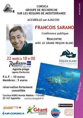 François Sarano, l'homme qui plonge avec le grand requin blanc, à Ajaccio