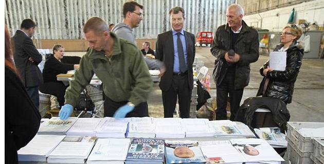 La préfecture supervise le dispositif de mise sous pli de propagande électorale