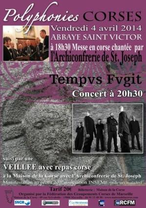 Groupements des Corses de Marseille : Une soirée au profit d'INSEME