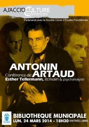 Ajaccio : Conférence autour de l'œuvre d'Antonin Artaud