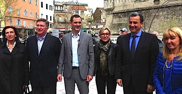 Marie-Dominique Carrier, Jean-Louis Milani, Gilles Simeoni, Linda Piperi, François Tatti et Emmanuelle de Gentili.