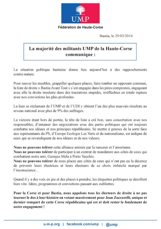 Le faux tract : l'UMP a déposé plainte