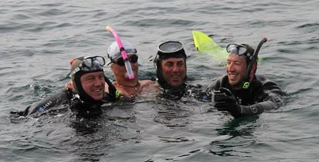 Pascal Olmeta, Thierry Corbalan, Franck Bruno et Alain Bernard
