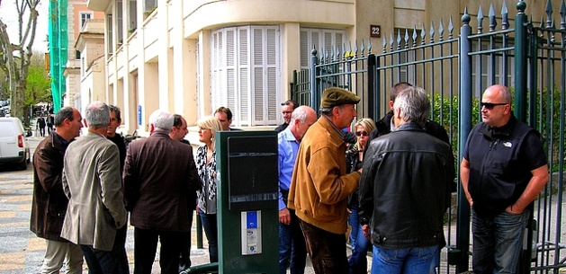 Les représentants syndicaux des entreprises insulaires ont exprimé, jeudi, leurs craintes à Paul Giacobbi. (Photo : Yannis-Christophe Garcia)